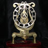 Lyre shape skeleton clock with fusee movement but no passing strike