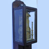 An antique Japanese pillar clock