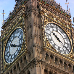 Big Ben in London has four dials