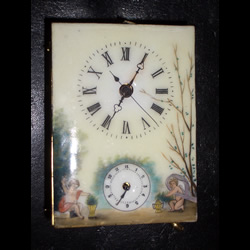 A handpainted dial from a fake Chinese carriage clock
