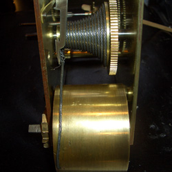The line on the fusee fitted