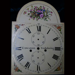 Painted dial from a clock by James Edwards c.1825